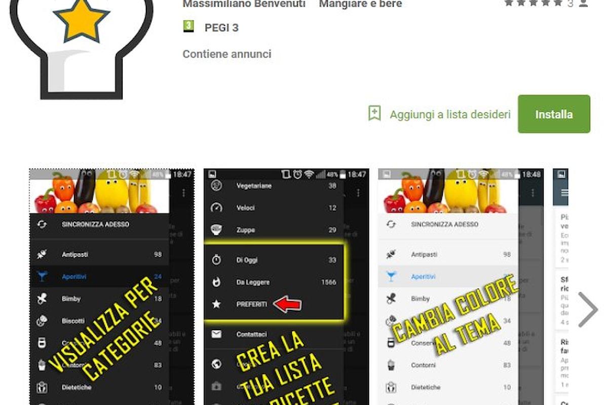 Scarica Ricette di Cucina l'app per android
