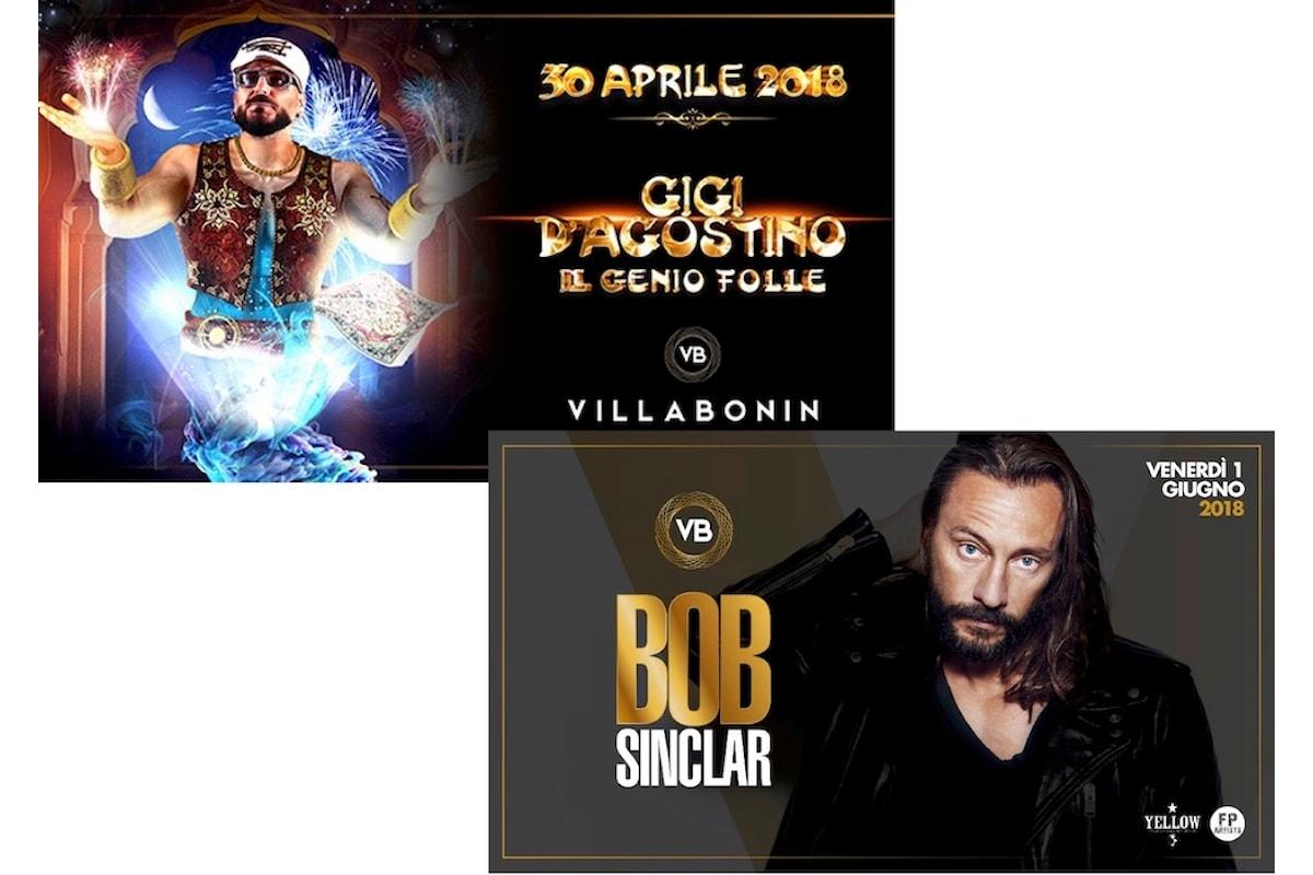 Villa Bonin fa scatenare Vicenza al ritmo dei top dj: 30/04 Gigi D'Agostino, 1/6 Bob Sinclar