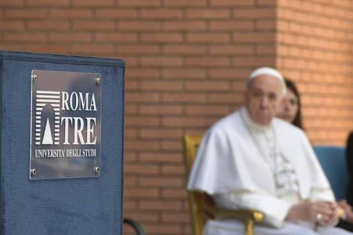 Papa Francesco in visita all'Università degli Studi Roma Tre