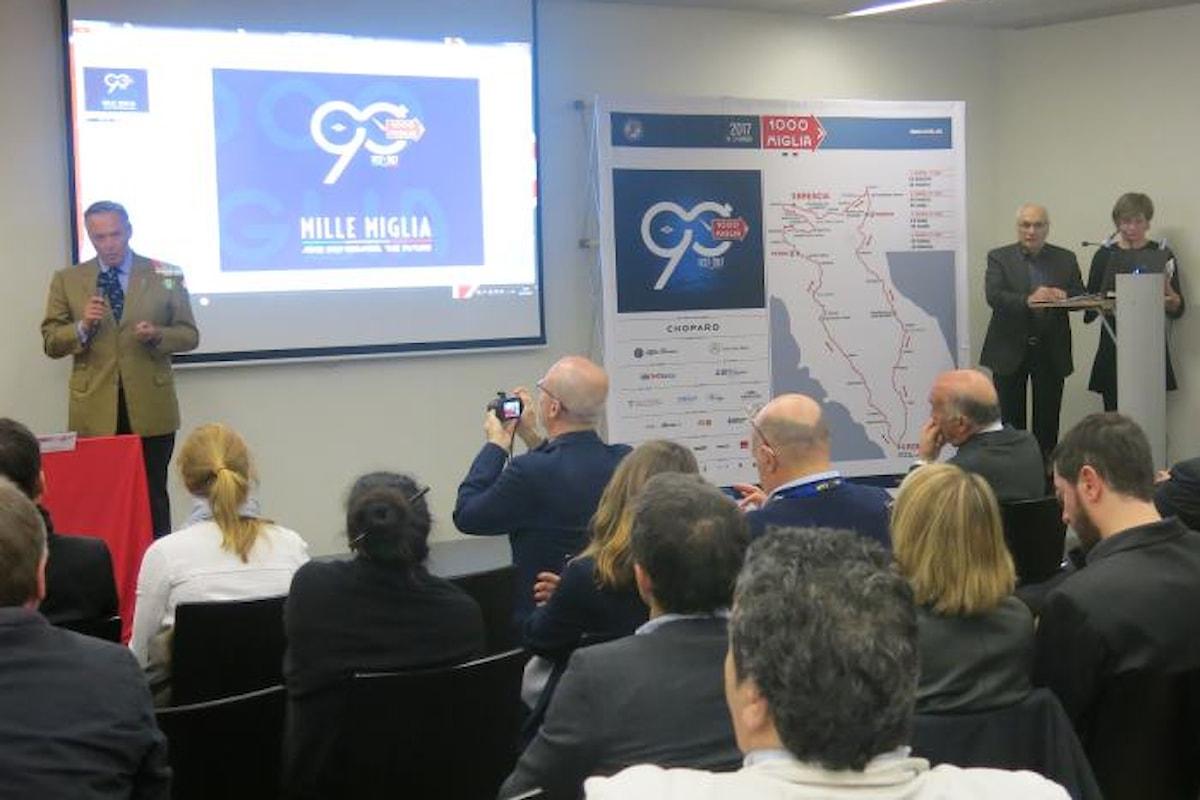 Presentata a Ginevra l'edizione 2017 della Mille Miglia che quest'anno festeggia 90 anni