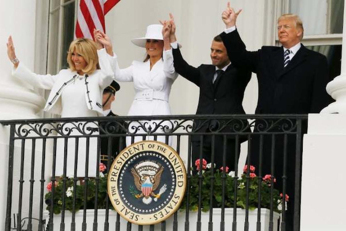 Macron negli Stati Uniti in visita ufficiale