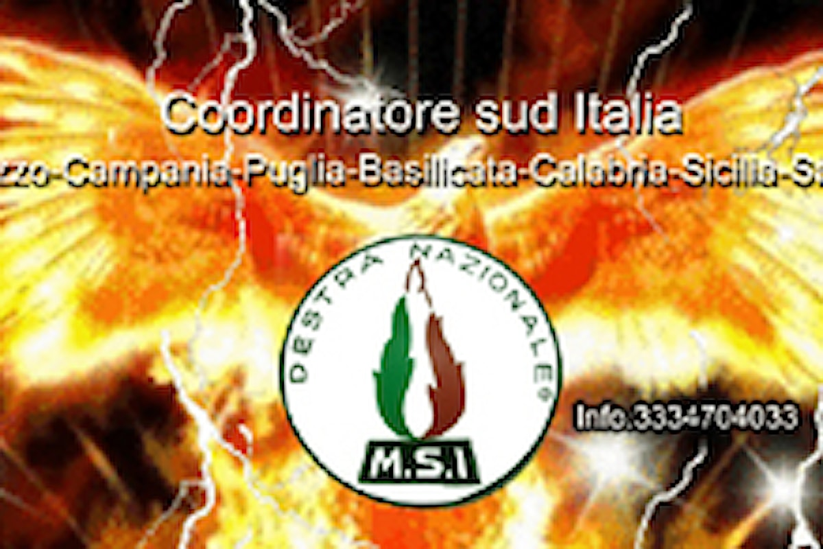 Gaetano Ienco nuovo Coordinatore Sud Italia del MSI-DN