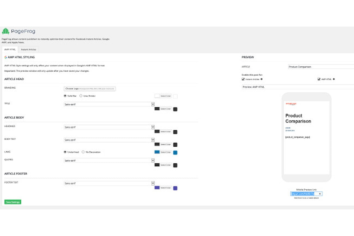Come Personalizzare la Grafica di Una pagina Amp di Google