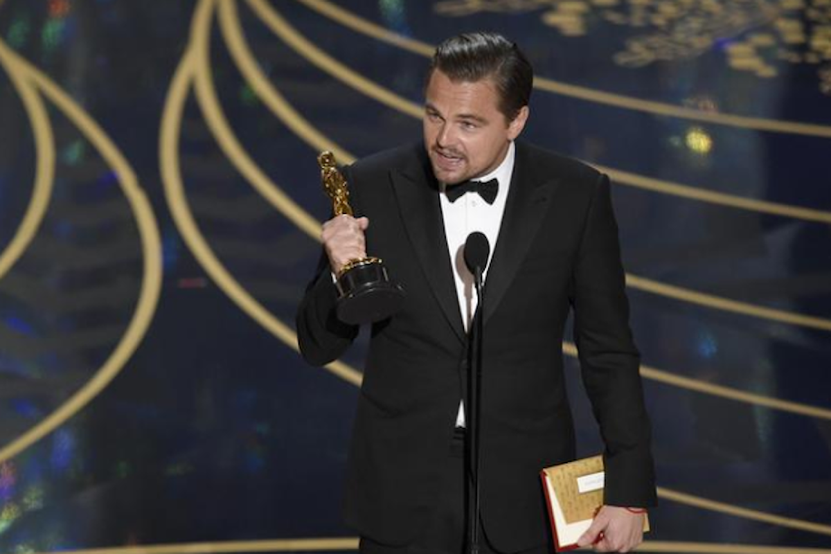 Oscar 2016, Morricone e DiCaprio vincono la statuetta d'oro per la prima volta