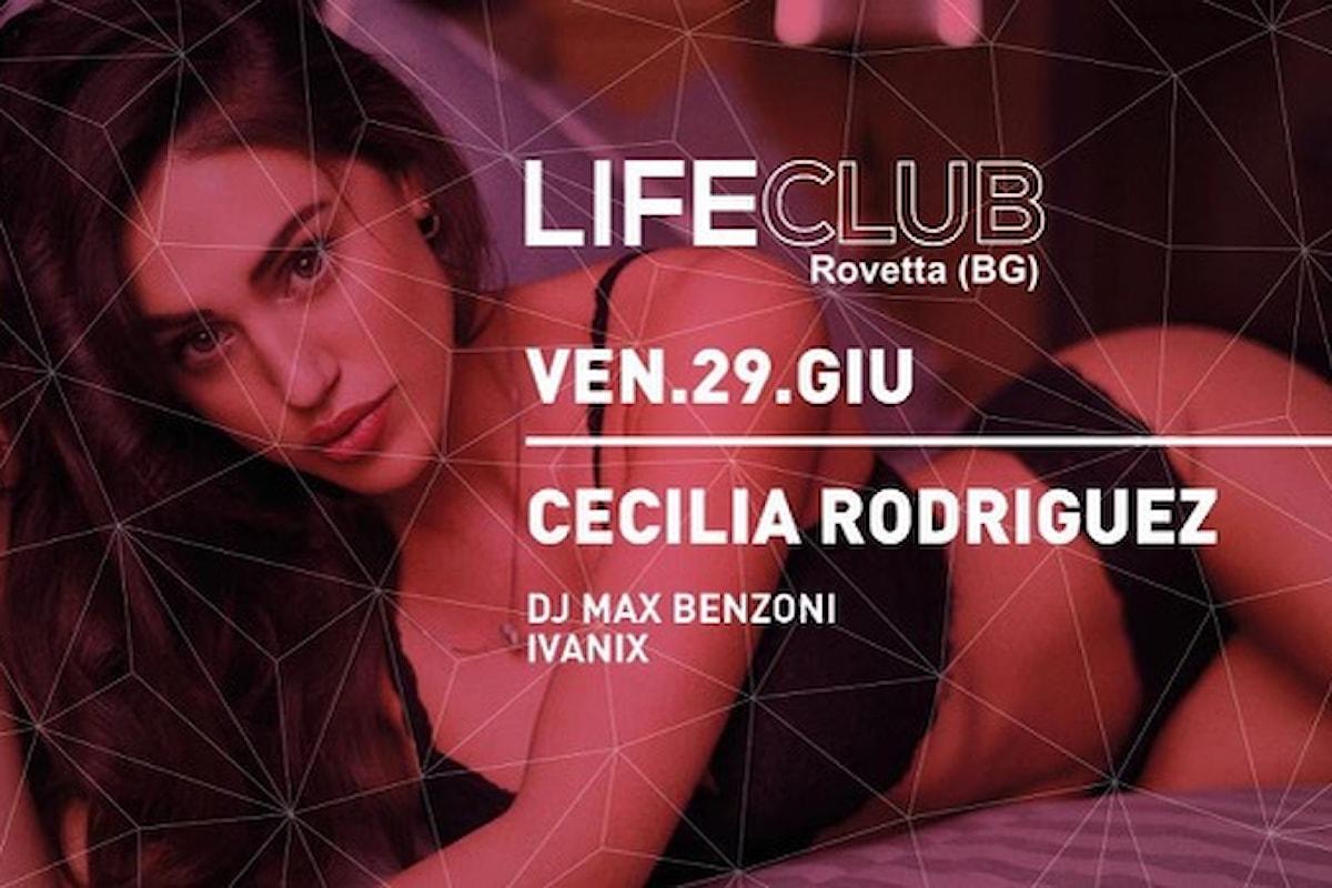 29 giugno 2018, Cecilia Rodriguez al Life Club di Rovetta