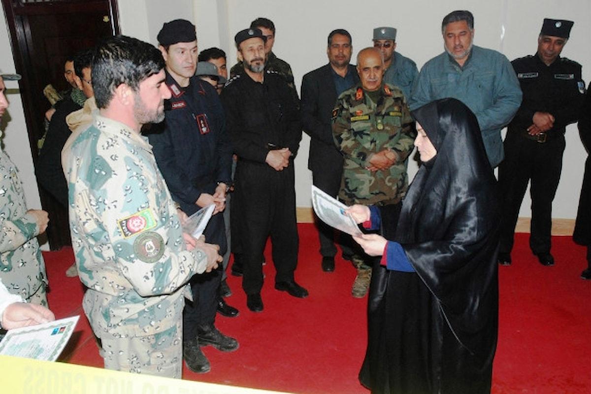 Afghanistan, Carabinieri abilitano prima donna poliziotta dei RIS