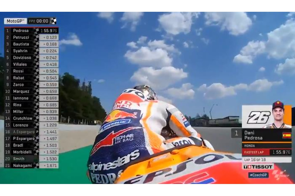 MotoGP 2018, Pedrosa il più veloce nelle libere del venerdì a Brno