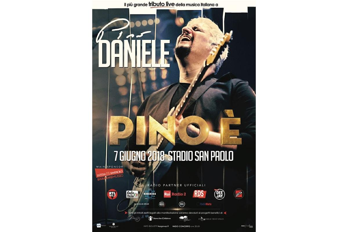 """""""PINO È"""": a Napoli festa allo stadio San Paolo per il Tributo a Pino Daniele"""