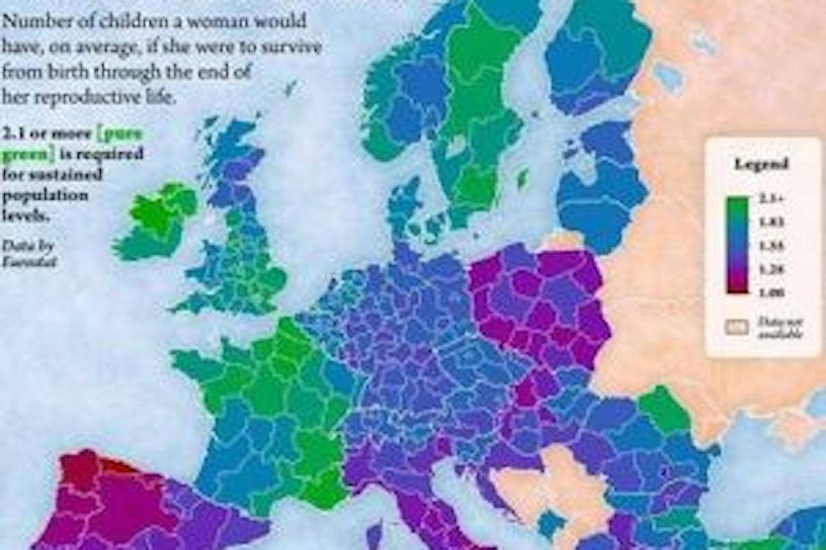 Fertilità, Italia è fanalino di coda nella Mappa Europea