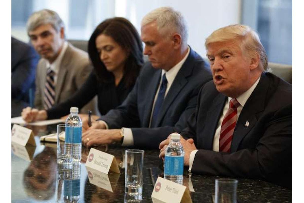 Trump e i Ceo dei big dell'IT insieme per ammodernare tecnologia e servizi nell'amministrazione USA