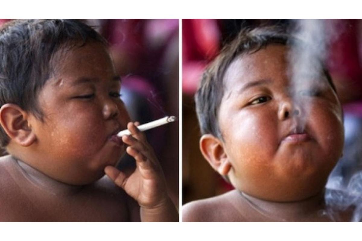 Fuma 40 sigarette al giorno: è un bimbo di nome Ardi