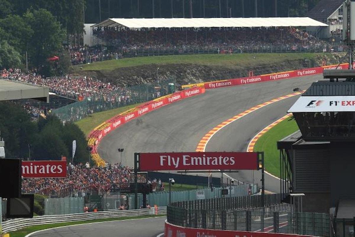 La Formula 1 riparte da Spa-Francorchamps con il Gran Premio del Belgio