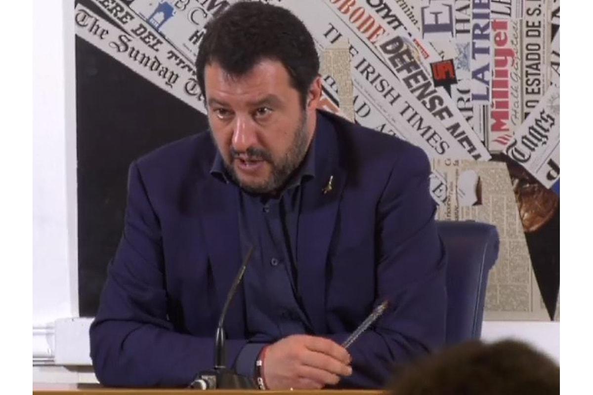 Per Salvini non esiste la possibilità di un governo con il Partito Democratico