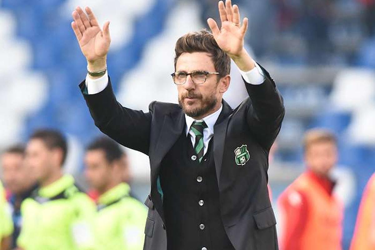 Eusebio Di Francesco lascia il Sassuolo e diventa il nuovo allenatore della Roma