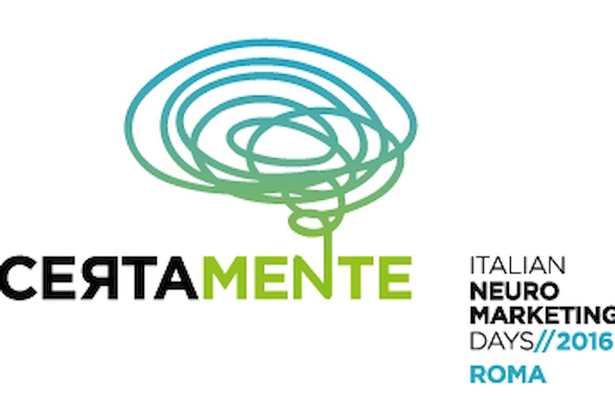 Save the date: CERTAMENTE 2016, Italian Neuromarketing Days