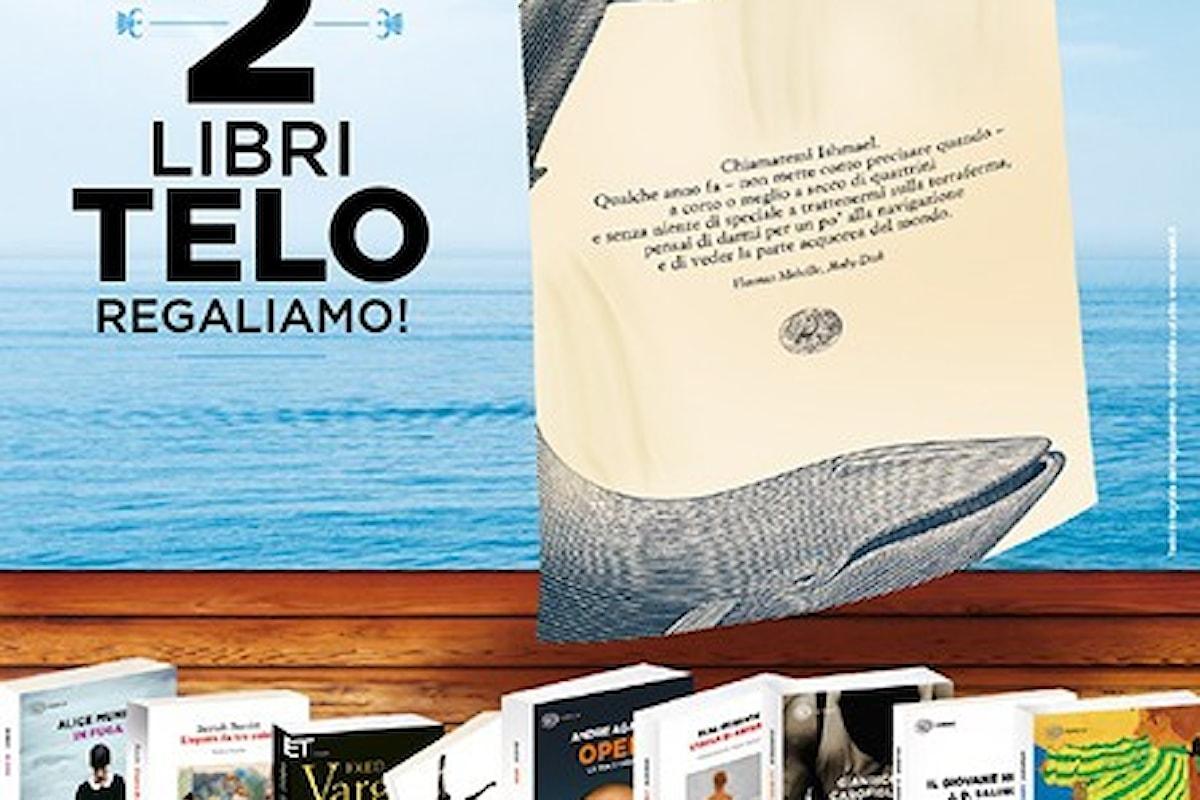Einaudi regala un telo mare con l'acquisto di due tascabili