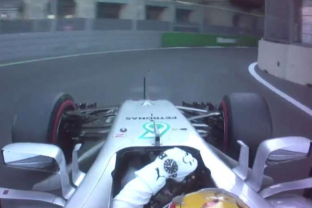 Formula 1. In Azeirbaijan Hamilton è davanti a tutti. Male le Ferrari