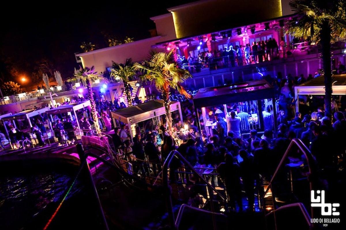 Lido di Bellagio (CO): 14/7 Summer Party on the Lake, 15/7 Cenando & Ballando, 16/7 Aperol Spritz Beach Party