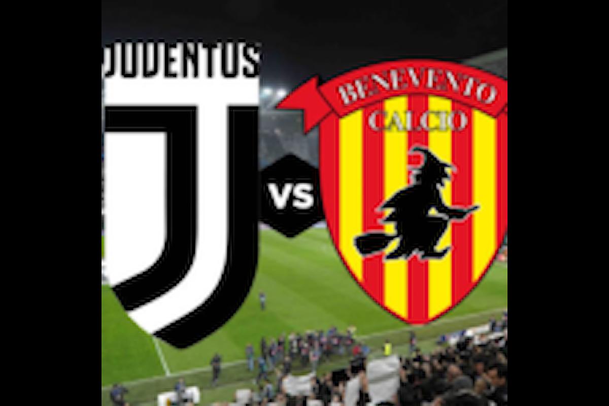 Juve-Benevento, quota record di Snai per la vittoria del Benevento