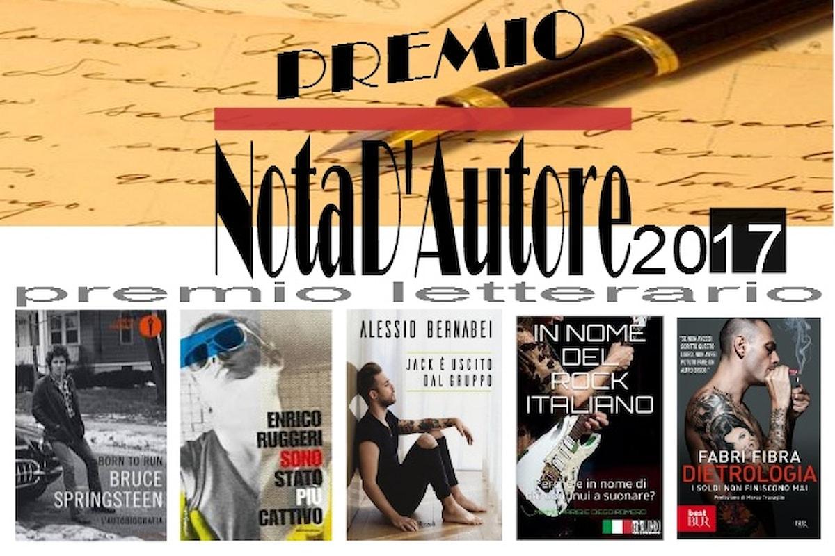 Premio letterario 'NotaD'Autore', i vincitori dell'edizione 2017