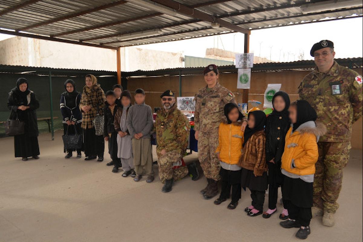 Afghanistan, militari della Brigata Sassari donano materiali all'orfanotrofio di Herat
