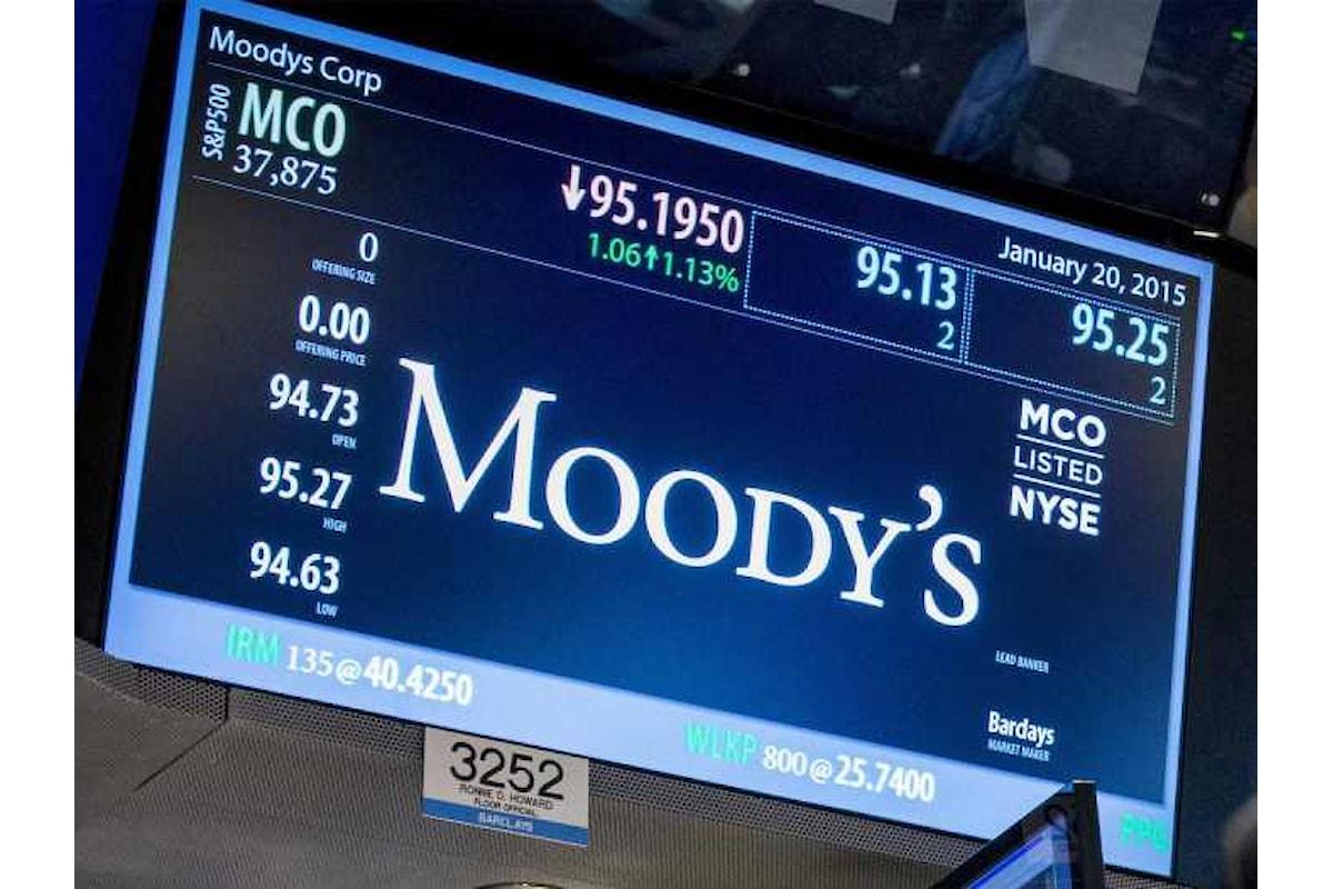 Previsioni negative per l'Italia e Moody's lascia invariato il rating