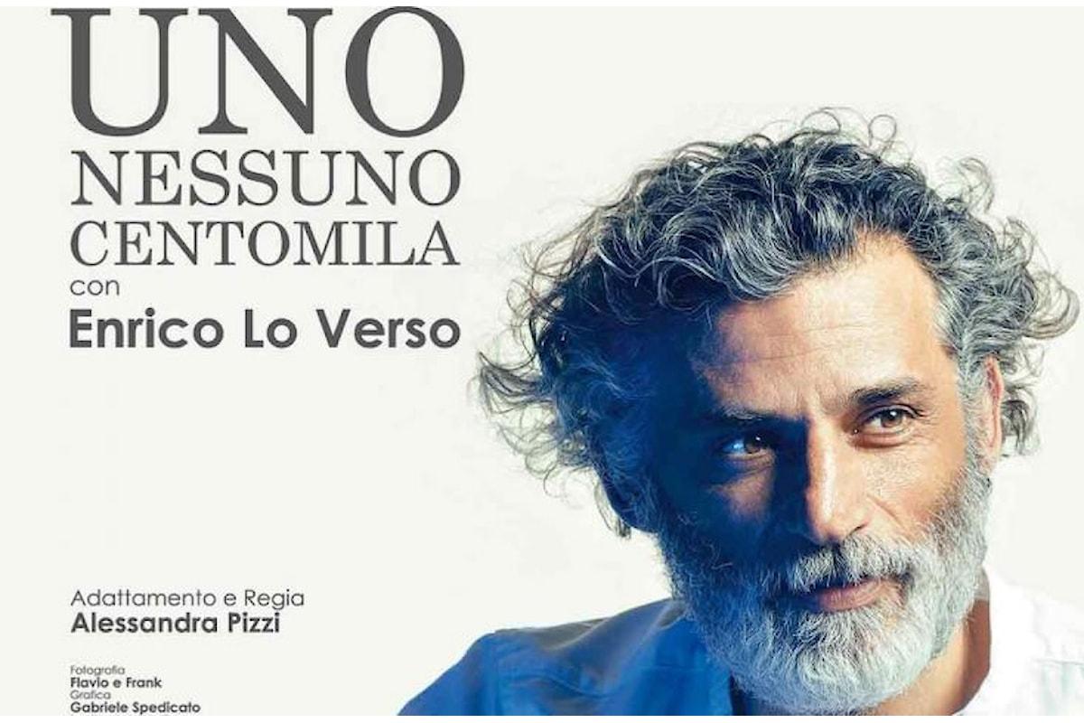 Enrico Lo Verso al teatro Sala Umberto di Roma, con Uno Nessuno Centomila