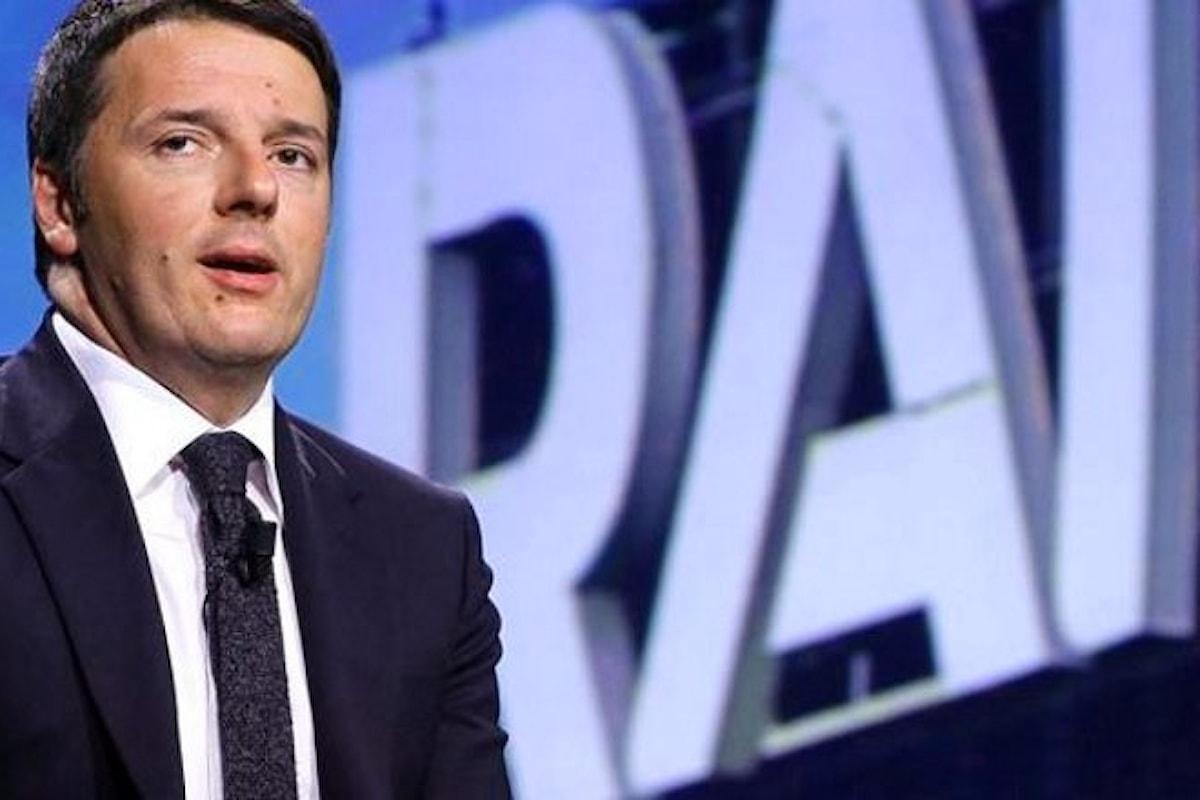 Siamo alla farsa. Renzi vuole eliminare il canone Rai