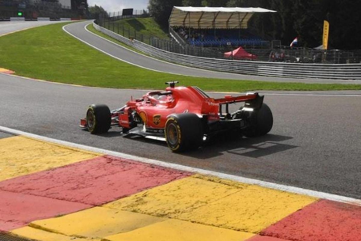 Formula 1, nelle libere del Gran Premio del Belgio le Ferrari sugli scudi