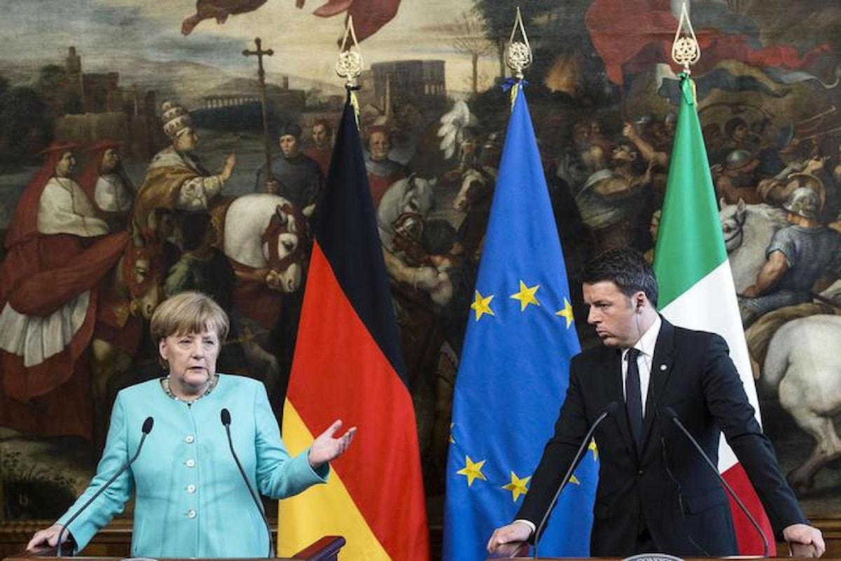 In Europa comanda la Germania. Incontro Renzi-Merkel sui migranti