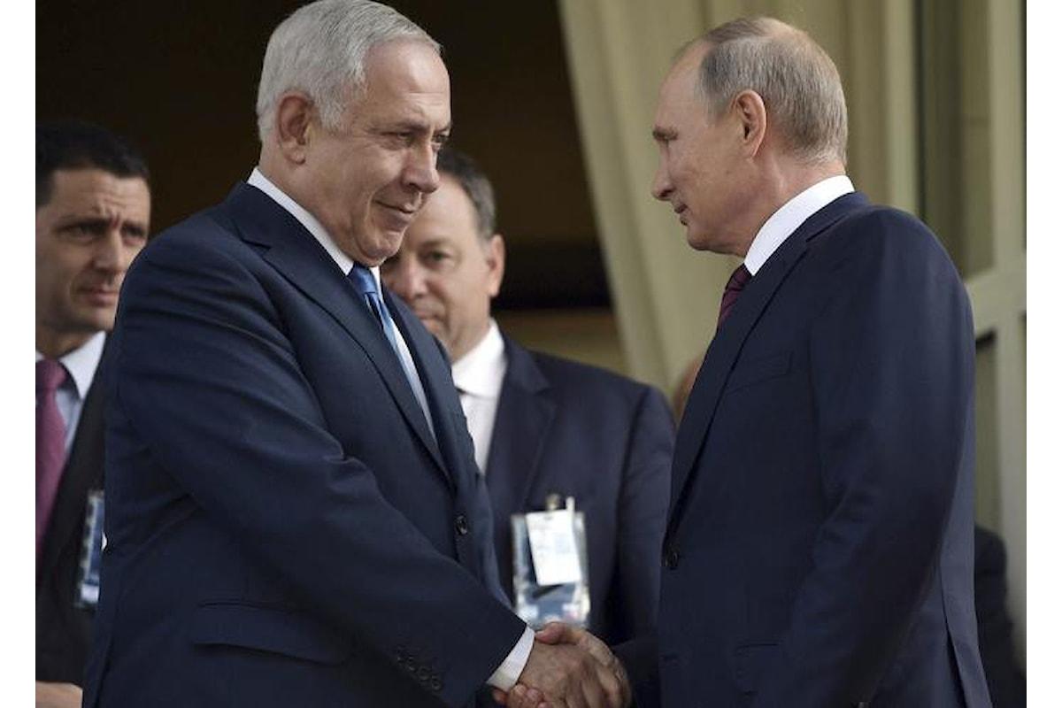 Israele attacca ancora l'Iran in Siria alla vigilia di un nuovo incontro tra Putin e Netanyahu