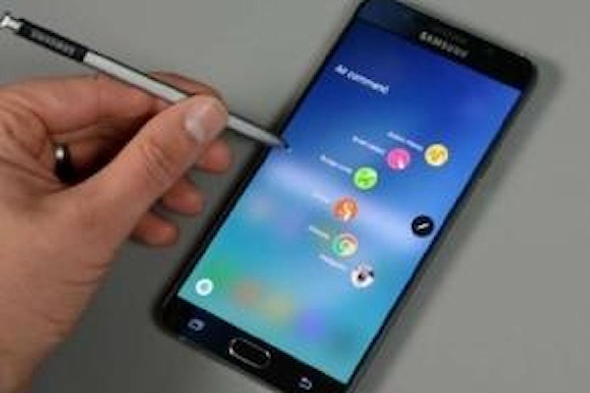 Samsung Galaxy Note 7 sarà presto di nuovo disponibile
