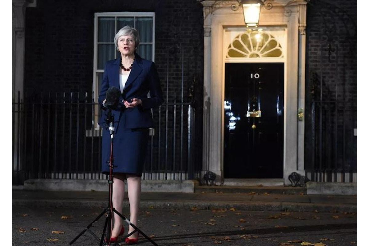 Brexit, Theresa May annuncia l'accordo ma sarà il Parlamento a doverlo approvare