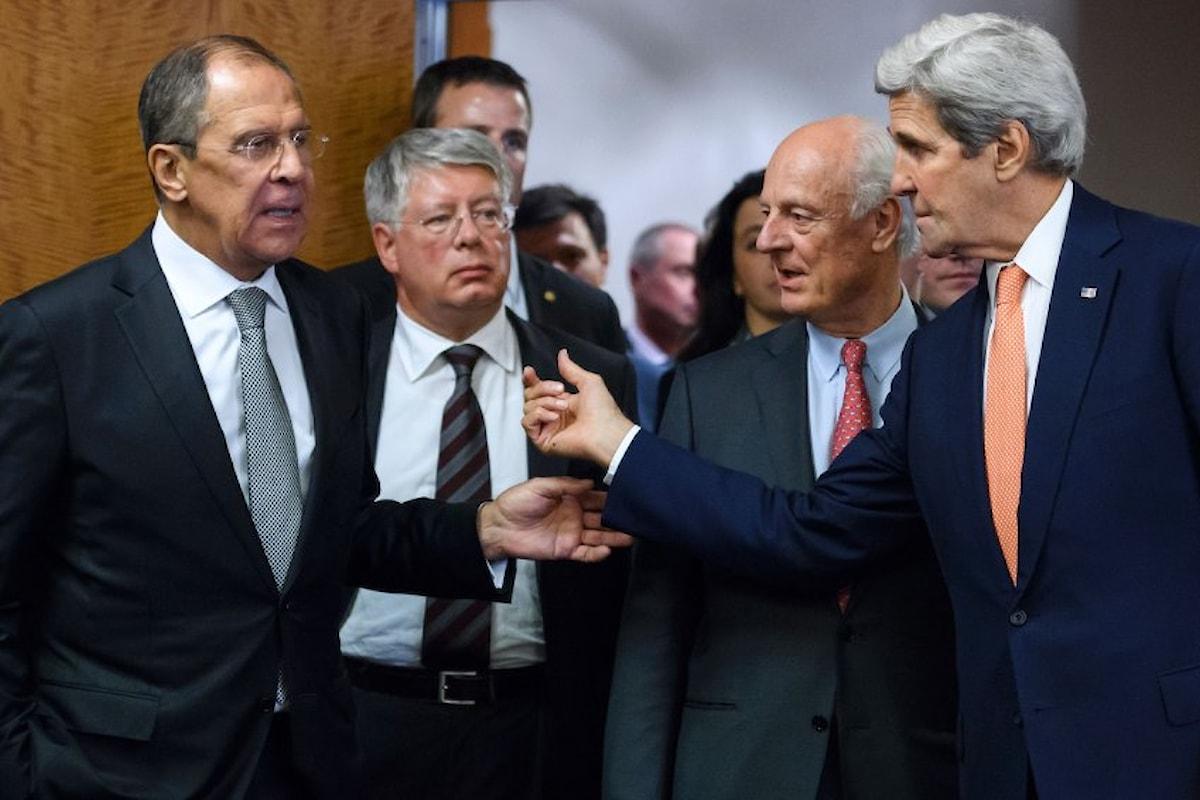 Accordo fra Usa e Russia sulla Siria. Stop alle ostilità da lunedì