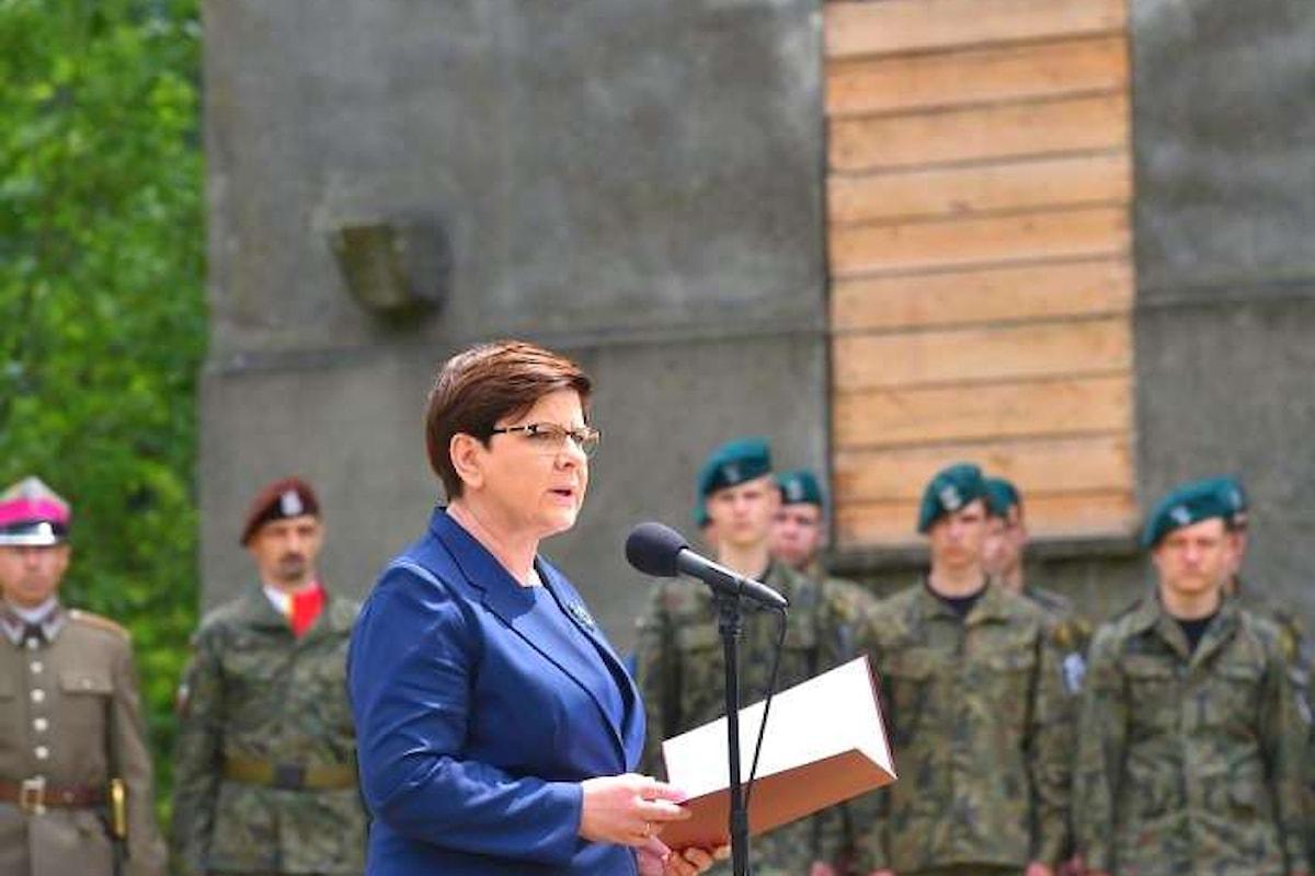 La premier polacca Beata Szydlo nella bufera per una sua frase su Auschwitz