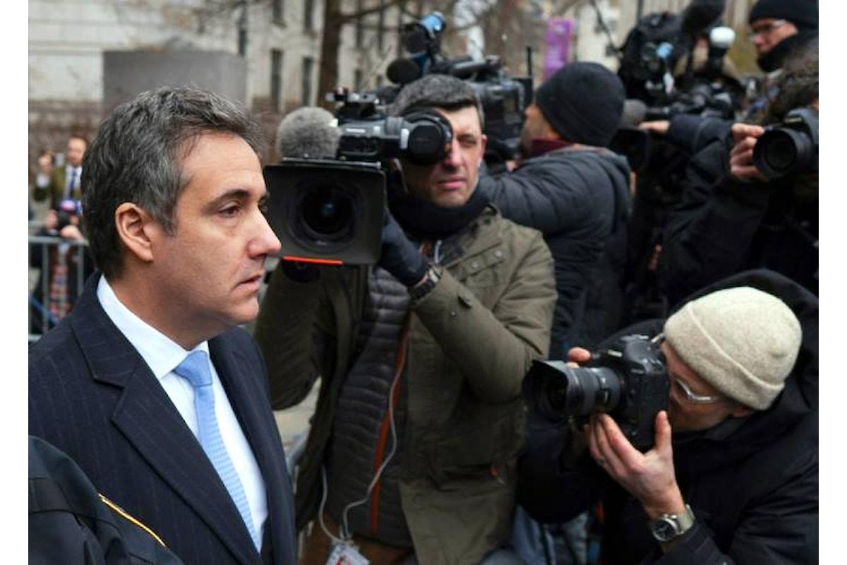 Condannato a 3 anni di carcere Michael Cohen, ex avvocato di Donald Trump