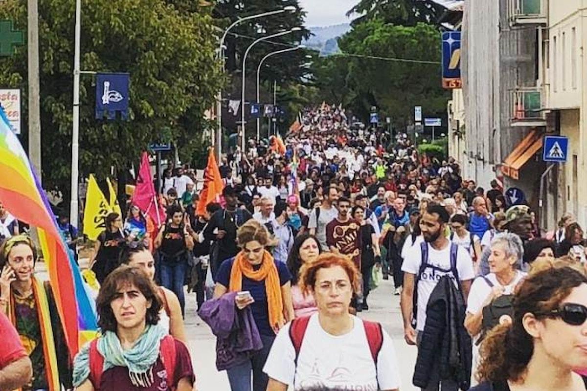 Più di 100mila i partecipanti all'edizione 2018 della Marcia Perugia-Assisi