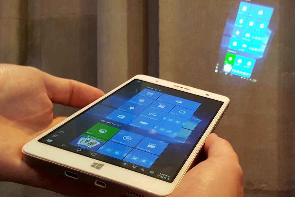 Holophone: il phablet con Windows 10, proiettore e processore intel x86   Surface Phone Italia