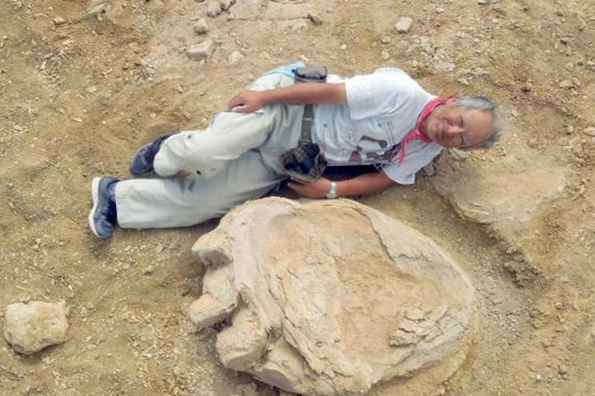 Scoperta in Mongolia una gigantesca impronta di dinosauro