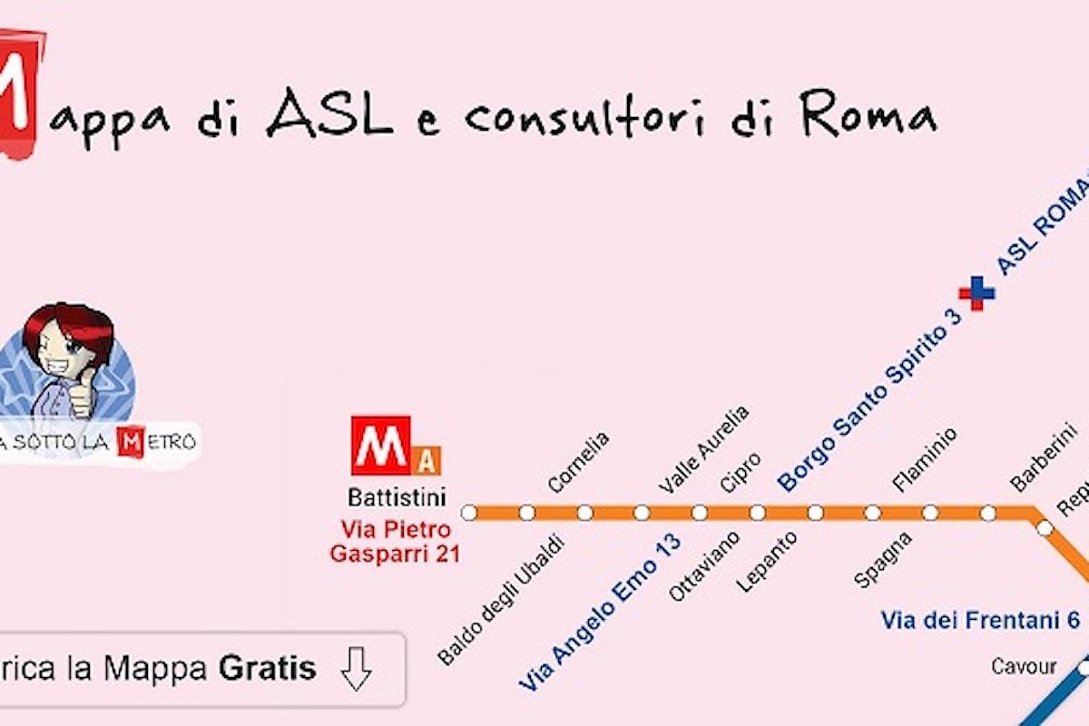 Prevenzione a portata di Metro, Giulia sotto la metro lancia la mappa metropolitana delle ASL e dei consultori di Roma