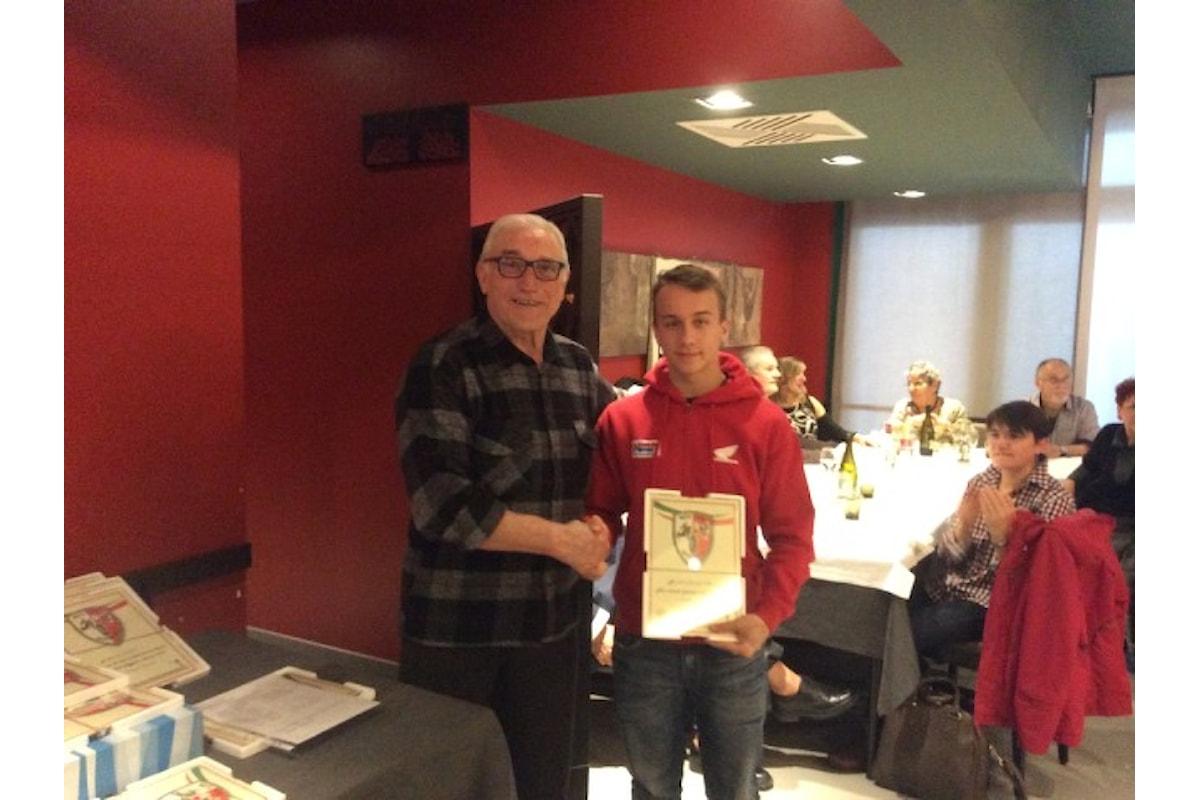 Pranzo Moto Club Reggiano febbraio 2016: premiati i piloti del Lucky Racing Team