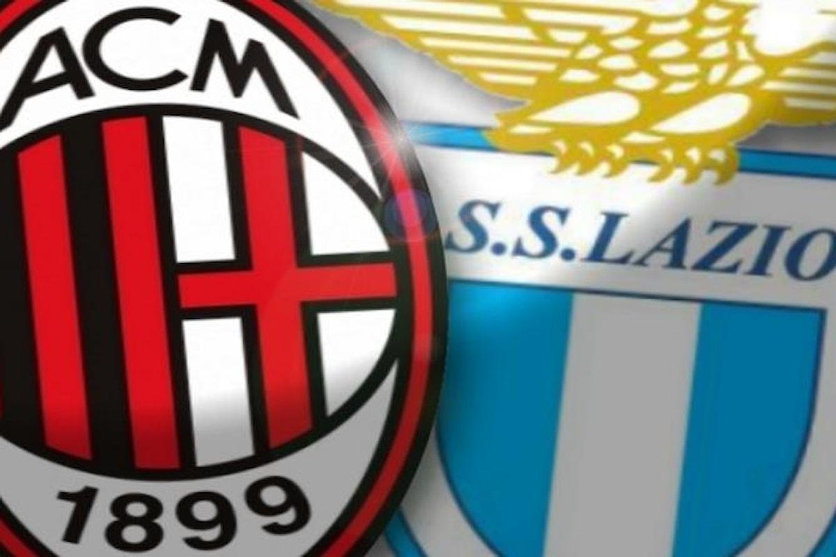La sfida tra Milan e Lazio l'incontro clou della 22esima giornata