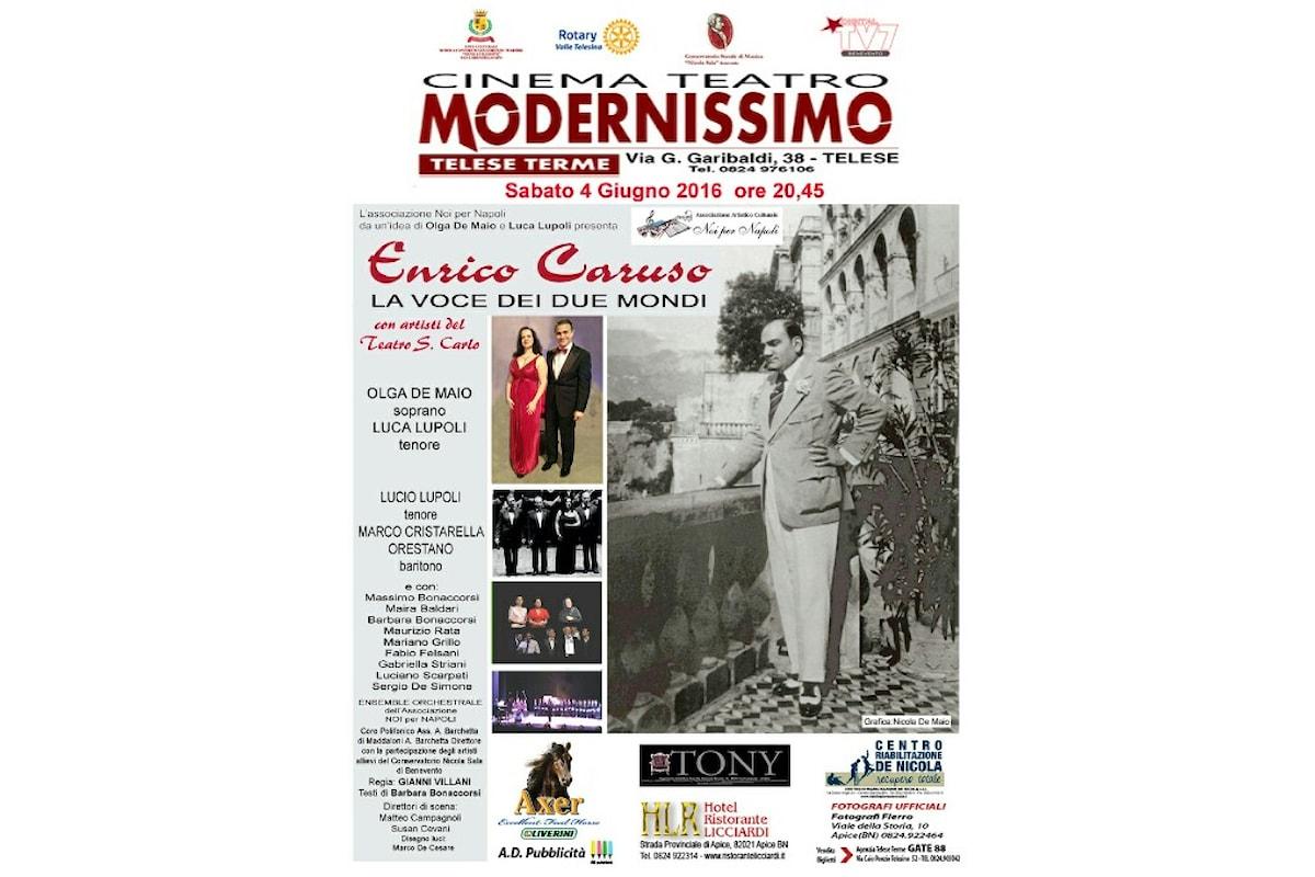 Si omaggia Enrico Caruso al Teatro Modernissimo di Telese