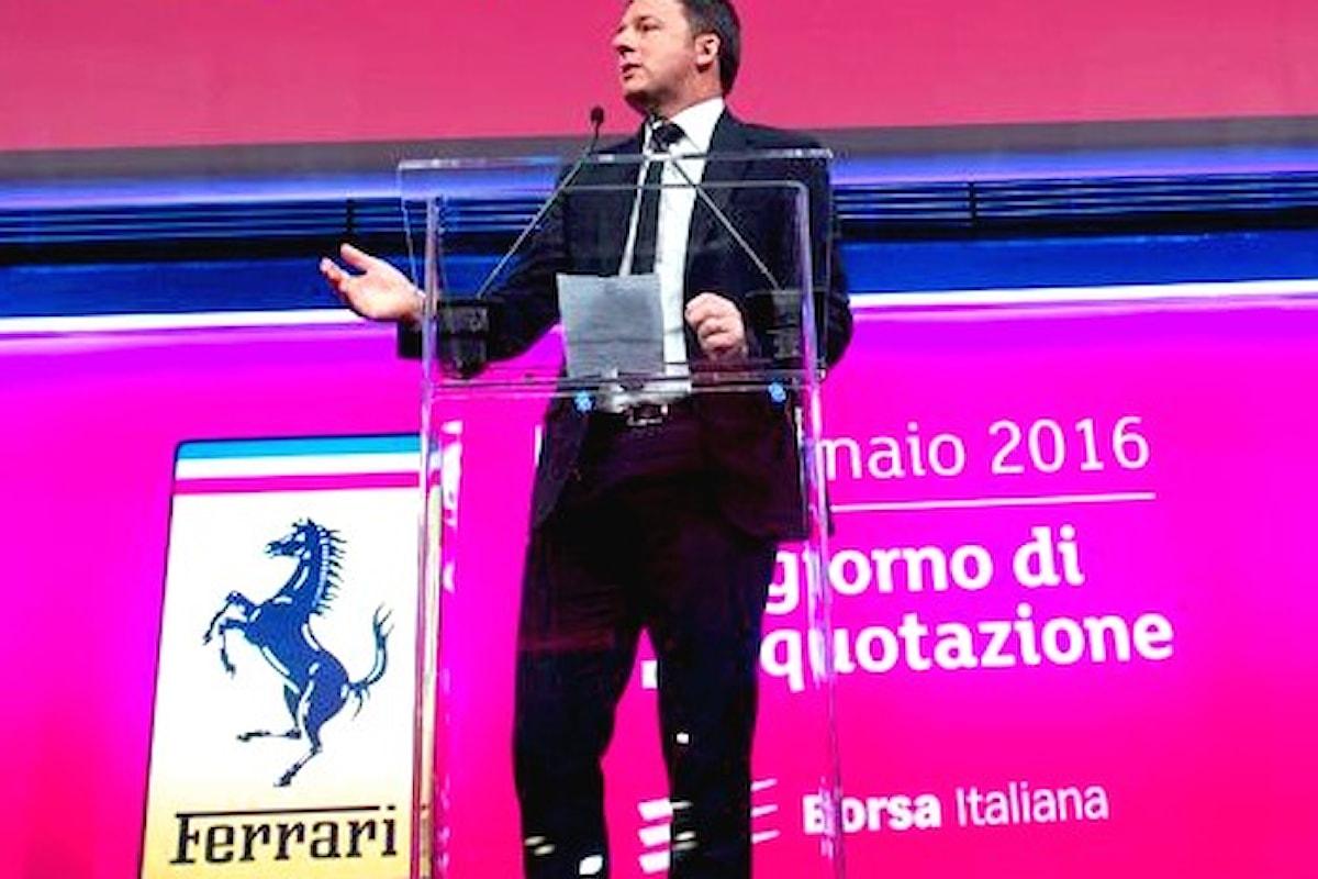 Il titolo Ferrari debutta a Piazza Affari con la benedizione di Renzi