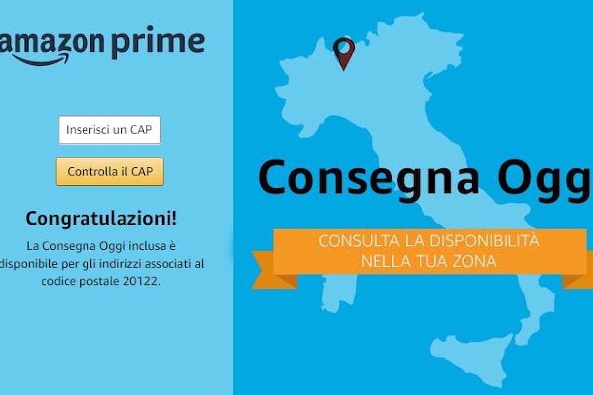 Amazon, per Milano e dintorni attivo il servizio Consegna Oggi