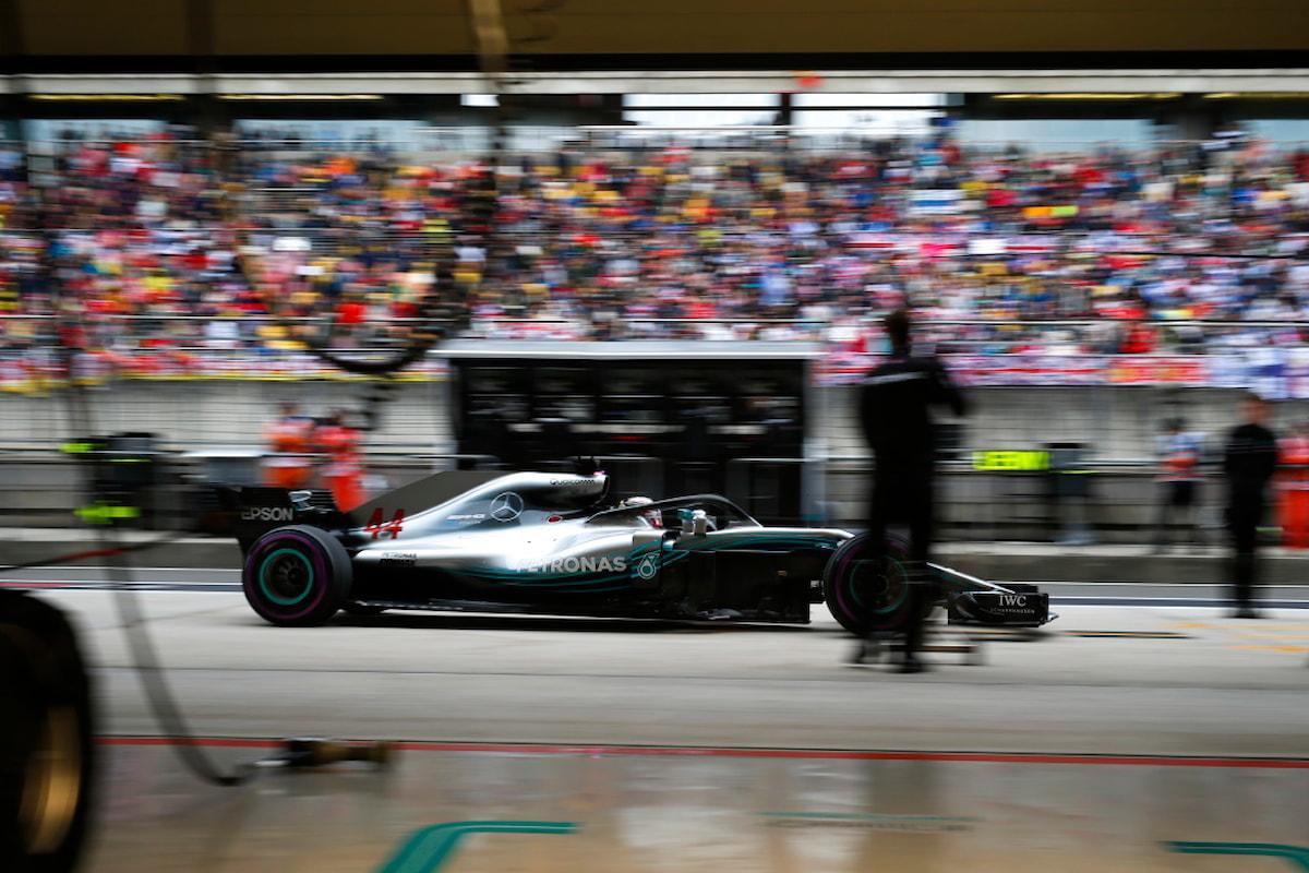 Cina: la Mercedes spera nel meteo per la gara di domani