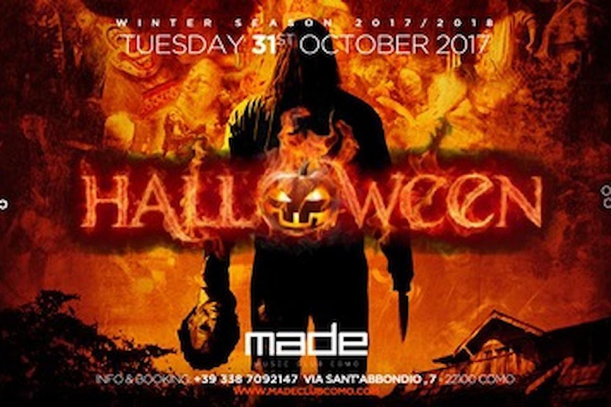 Made Club Como: 27/10 Cenando e Ballando + The Club, 28/10 Tributo a Ligabue, 29/10 Nueva Explosion Latina! 31/10 Halloween Night Party