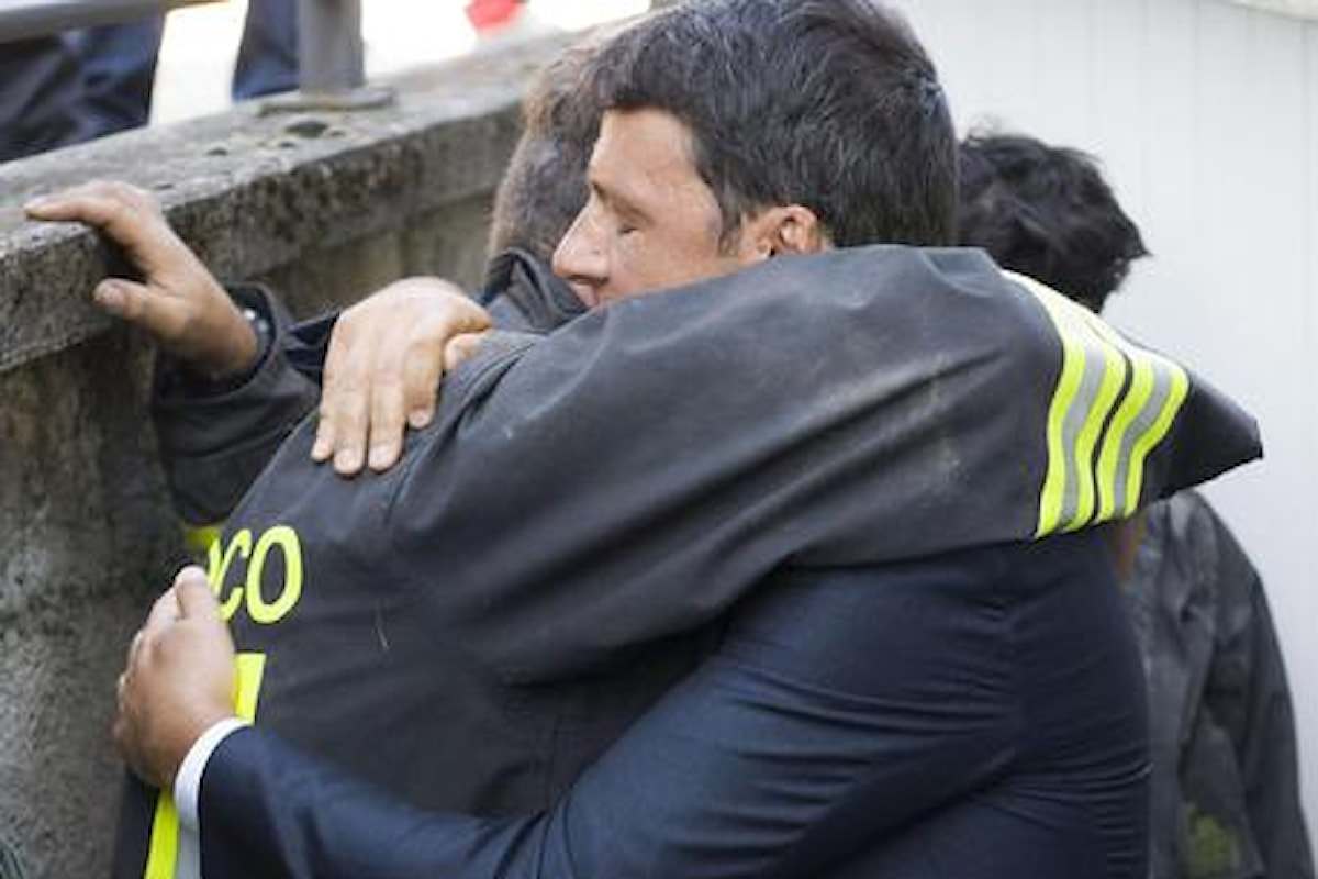 NON E' IL MOMENTO DI PARLARE, QUESTO - Il Premier Renzi per la prima volta nel suo mandato si scontra con la sofferenza e la fatica di vivere (o morire)