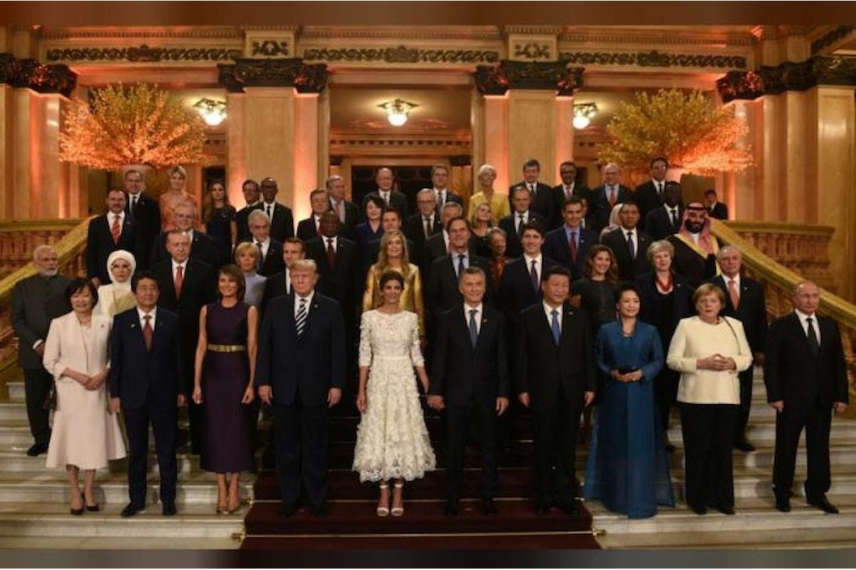Sabato a chiusura del G20 2019 in Argentina. Dichiarazione condivisa?