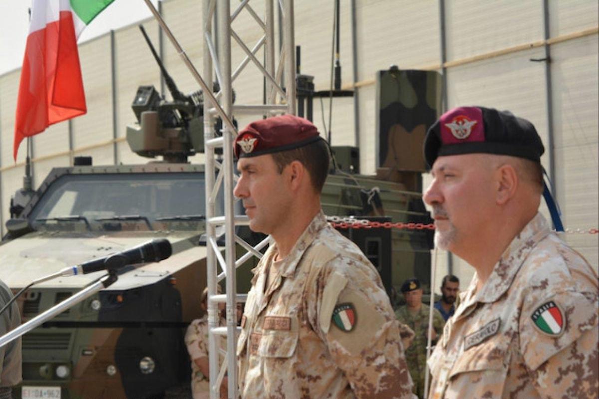 Iraq, passaggio di consegne al vertice del contingente italiano